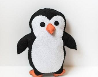 Handmade Felt Penguin Plushie / Stuffed Penguin / Cute Penguin Stuffed Animal
