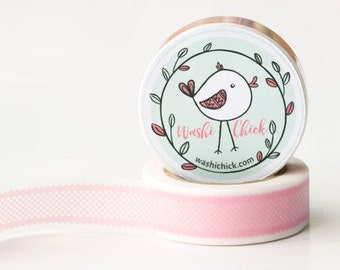 Lace Washi Tape - 1 roll, 15mm x 10m, Pink, Planner Tape, Decorative Masking Tape