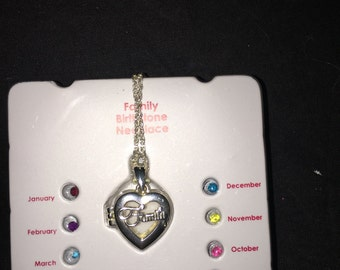 Family Birthstone Necklace. Free Shipping
