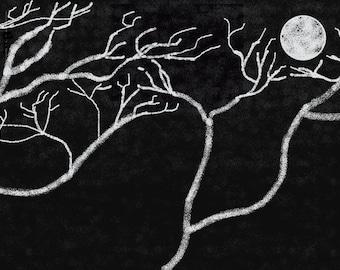 Le Lune et Nuit(canvas)