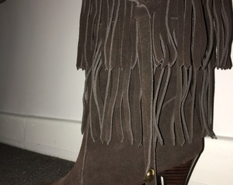 Genuin Leather boots, size 39 (7- 7 1/2), brown