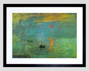 Painting Monet Sunrise Old Master Art Print Poster Reproduction FE618OM