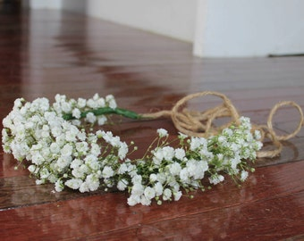 Dried Baby's Breath Flower Crown