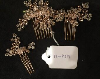 Rose Gold Comb Set