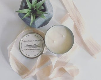 Soy Wax Candle 10 oz Tin in Bamboo Musk