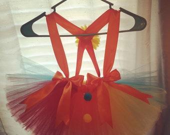 Carnival tutu clown tutu halloween tutu birthday tutu