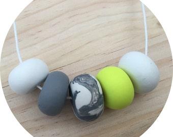 White neon marble grey