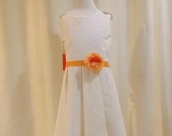 Meloney's Design handmade size 8 ivory dress