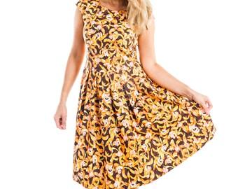 Orchid Print Dress - 15-016