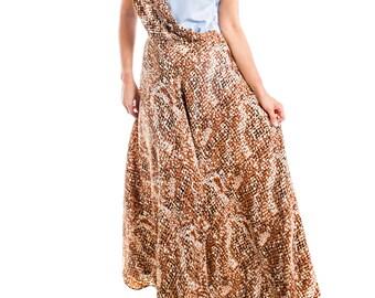 Powder Blue + Chocolate Full Length Dress - 15-052
