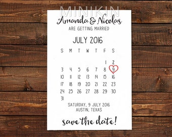 Save The Date Cards, Save The Date Calendar Cards, Wedding Invitation, Save The Date Card, Save The Dates, Wedding Announcement  x 20