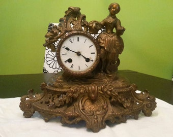 France roccoco table clock