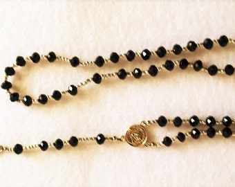 Rosary Black and gold (Small) (Item # 205)
