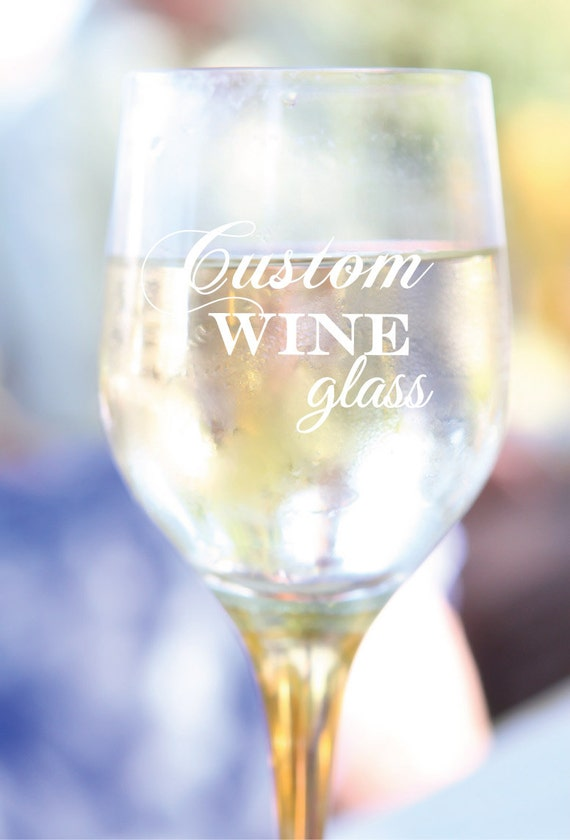 Etched Wine Glasses Wedding Gifts : Etched Wine Glasses Custom Wine Glass Bridal Gifts