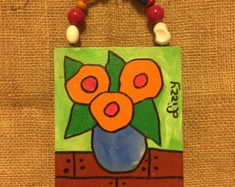 Folkart Painting by Lizzy