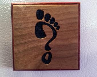 Refrigerator Magnet - Black Sand Footprint