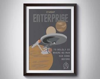 Star Trek Travel Poster: Enterprise   Instant Download