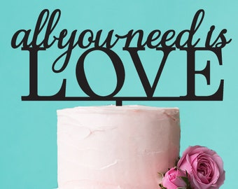 All You Need is Love Cake Topper (FJM7371238-LXJM)