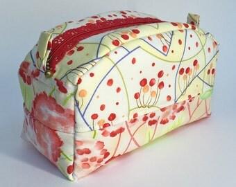 Notions Bag - Box Bag - Cosmetics Bag - Makeup Bag - Toiletry Bag - Travel Bag - Zipper Box Bag - Gift for Girlfriend - Gift for Her