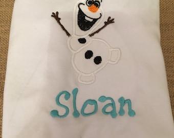 Applique Olaf shirt