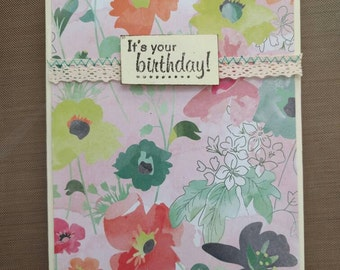 Homemade Card- It's Your Birthday Card