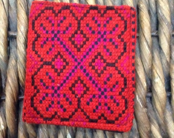 Hand embroided Hmong wallet