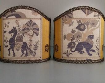 Pair of Venetian shades in fabric Rubelli