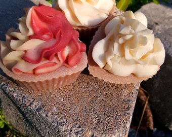 PassionFruit Rose Cupcake Soap