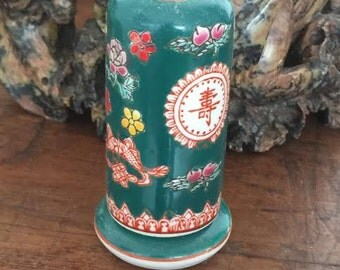 Early twentith century hand painted Chinese tooth pick holder