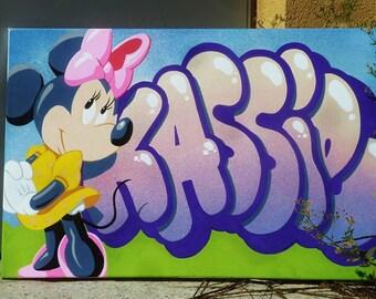 canvas name KASSIE graffiti child gift