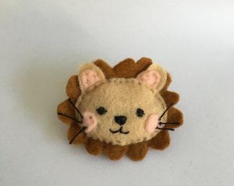 Lion Plush Pin