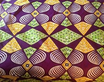 West-African wax print/ankara fabric - 3yds