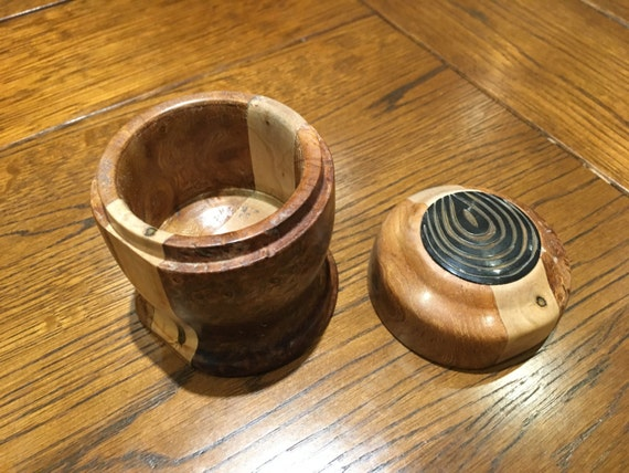 Small Mixed Burr Wood Pot