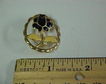 Black Tulip pin/brooch