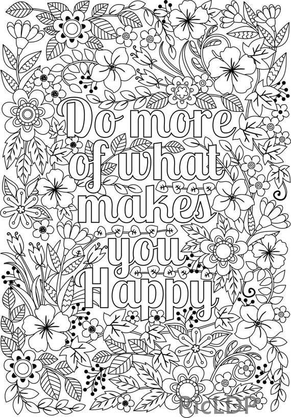 Printable Do More Of What Makes You Happy Flower