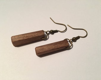 Black Walnut Wooden Earrings
