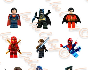 Lego Action Figures Cupcake Toppers