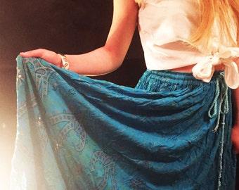 Vintage turquoise summer skirt
