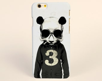 Black panda iPhone 7 Case, iPhone 7 plus Case, iPhone 6 Plus Case, iPhone 6 Case, iPhone 6s Case, iPhone 5s Case, hipster iPhone Cases