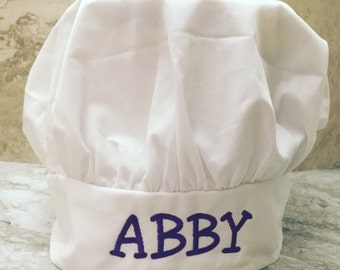 Child chef hat embroidered, personalized, cook
