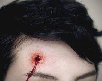 Prosthetic Silicone Bullet Hole