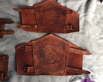 Celtic knotwork Vambraces
