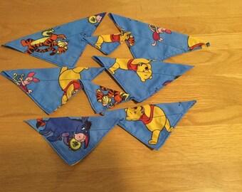 Blue Disney dog bandanas