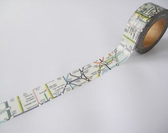 London Underground Tape | London Tube Washi Tape 15mm X 10 Metres