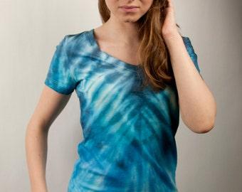 Misty blue tie-dye