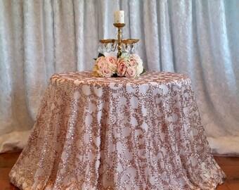 Black Sequin Tablecloth