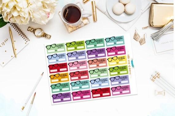 Work Planner Stickers | Work Schedule Stickers, Planner Stickers, Stickers For Work, Functional Planner Stickers