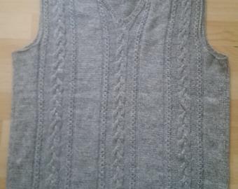 Fantastic Grey Men's Vest (Handmade)