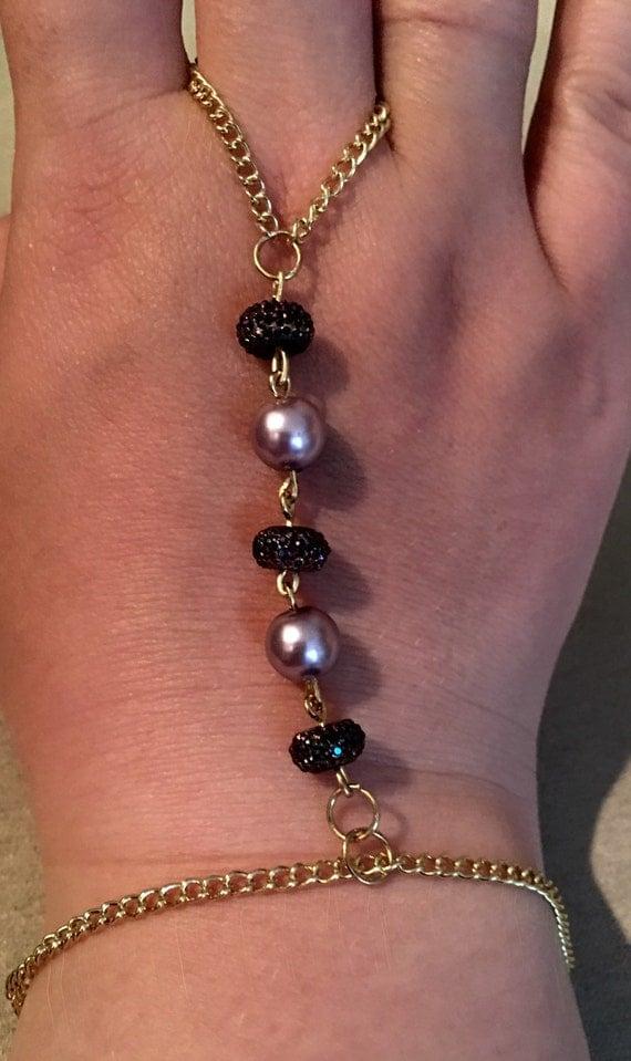 Purple Pearl Ring to Bracelet