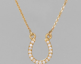 14 k gold necklace diamond 0.25 CT
